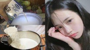 Đun gạo với sữa tươi, da trắng đẹp, mụn và vết thâm lại biến hết