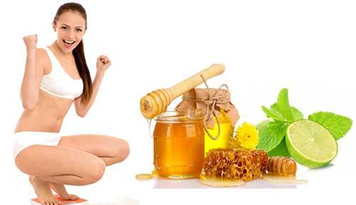 nước chanh pha với mật ong cho eo thon